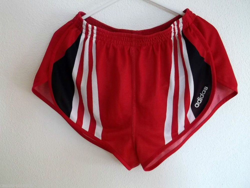 adidas high cut running shorts glanz sprinter d38 uk size