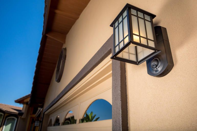 Kuna light fixture front doors studio apartment and porch this smart security light has got your front porch covered aloadofball Image collections