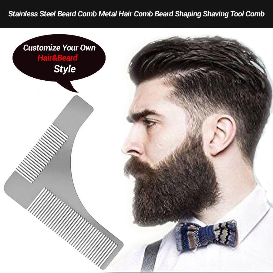 $2 85 - Comb Beard Comb Shaving Tool Metal Stainless Steel