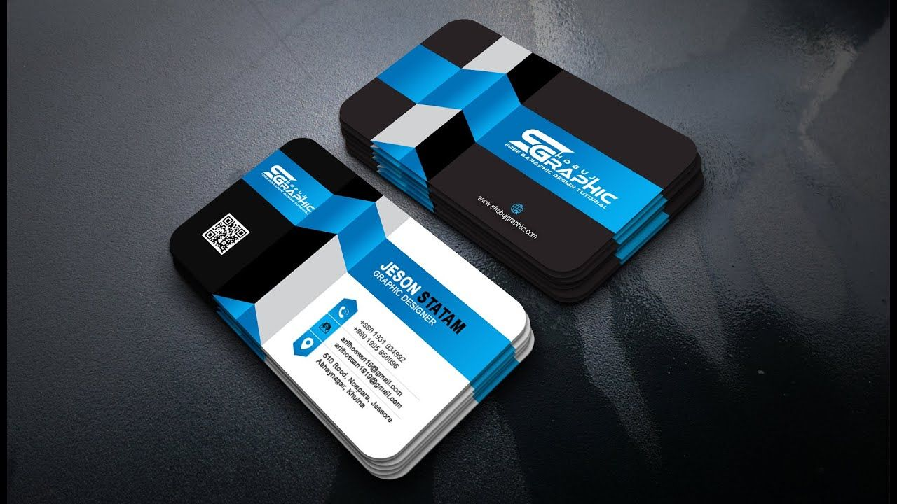 How To Create A 3d Business Card Design Photoshop Tutorial 3d Business Card Card Design Photoshop Design