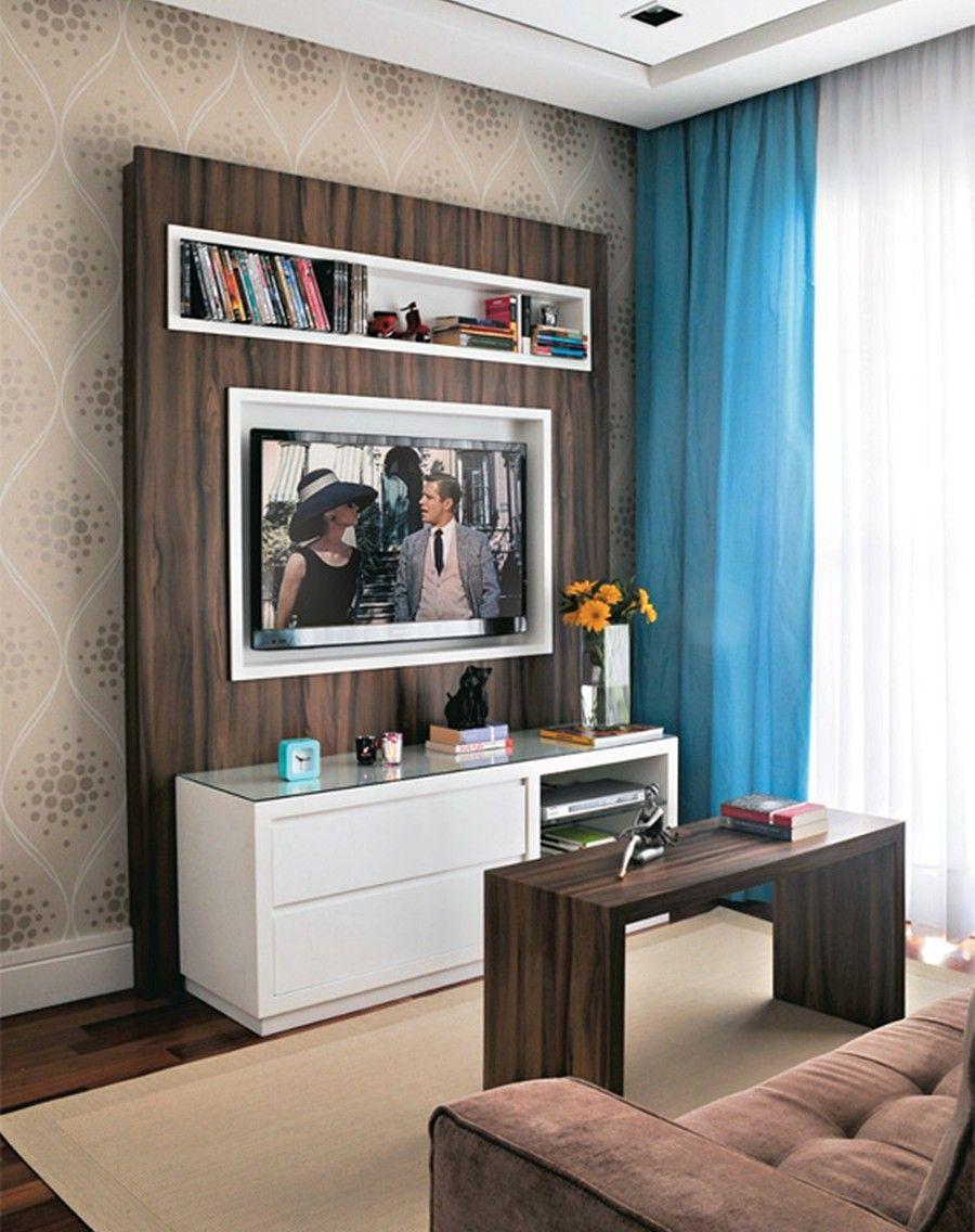 Decora O De Sala De Estar Pequena 50 Dicas Poderosas Living  -> Decoracao De Sala De Estar Pequena Com Tv