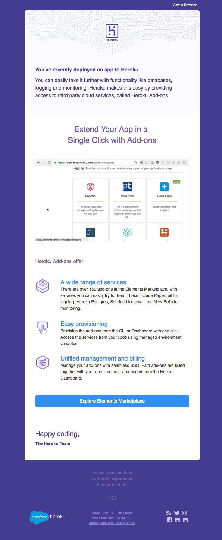 Heroku sent this email with the subject line: Extend your