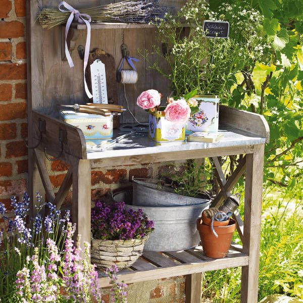 Pin By Susan Marie On Potting Benches | Pinterest | Gärten ... Schoene Ideen Garten Freien