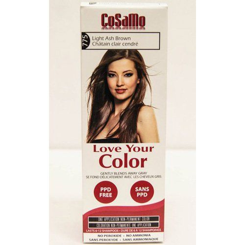 CoSaMo Love Your Color Hair Color 775 Light Ash Brown Pack of 3 *** Check this awesome product by going to the link at the image.