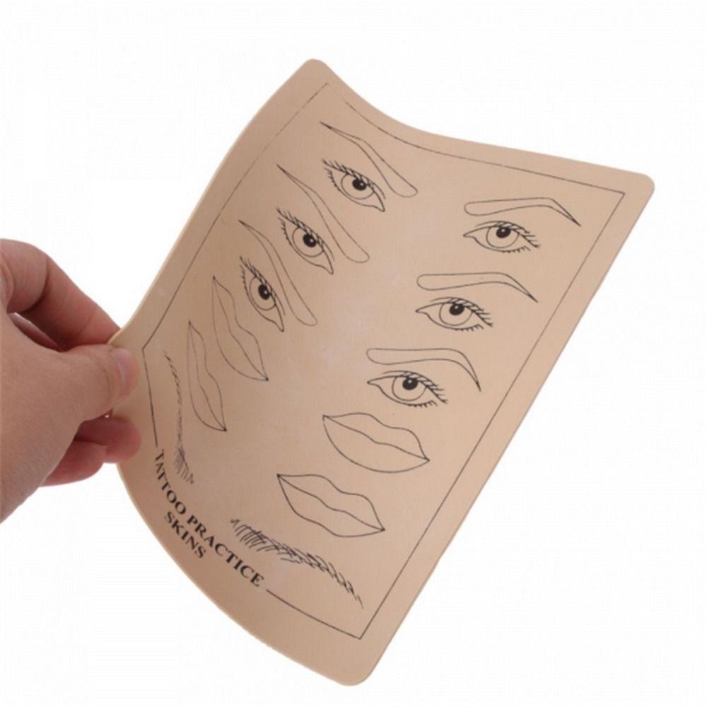 최고 품질의 영구 메이크업 눈썹 입술 문신 연습 피부 훈련 피부 세트 초보자를위한