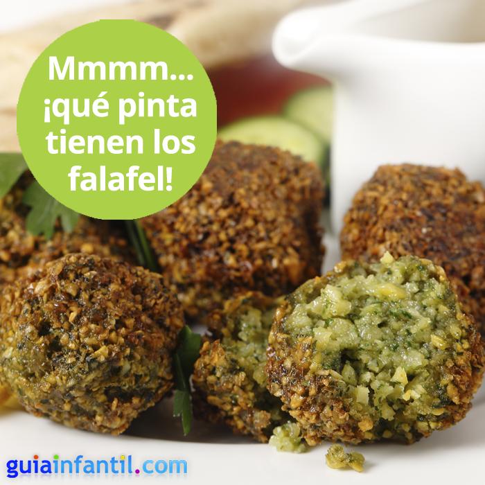 Una receta árabe de falafel para niños. http://www.guiainfantil.com/recetas/legumbres/garbanzos/falafel-o-hamburguesa-de-garbanzos-receta-arabe-para-ninos/