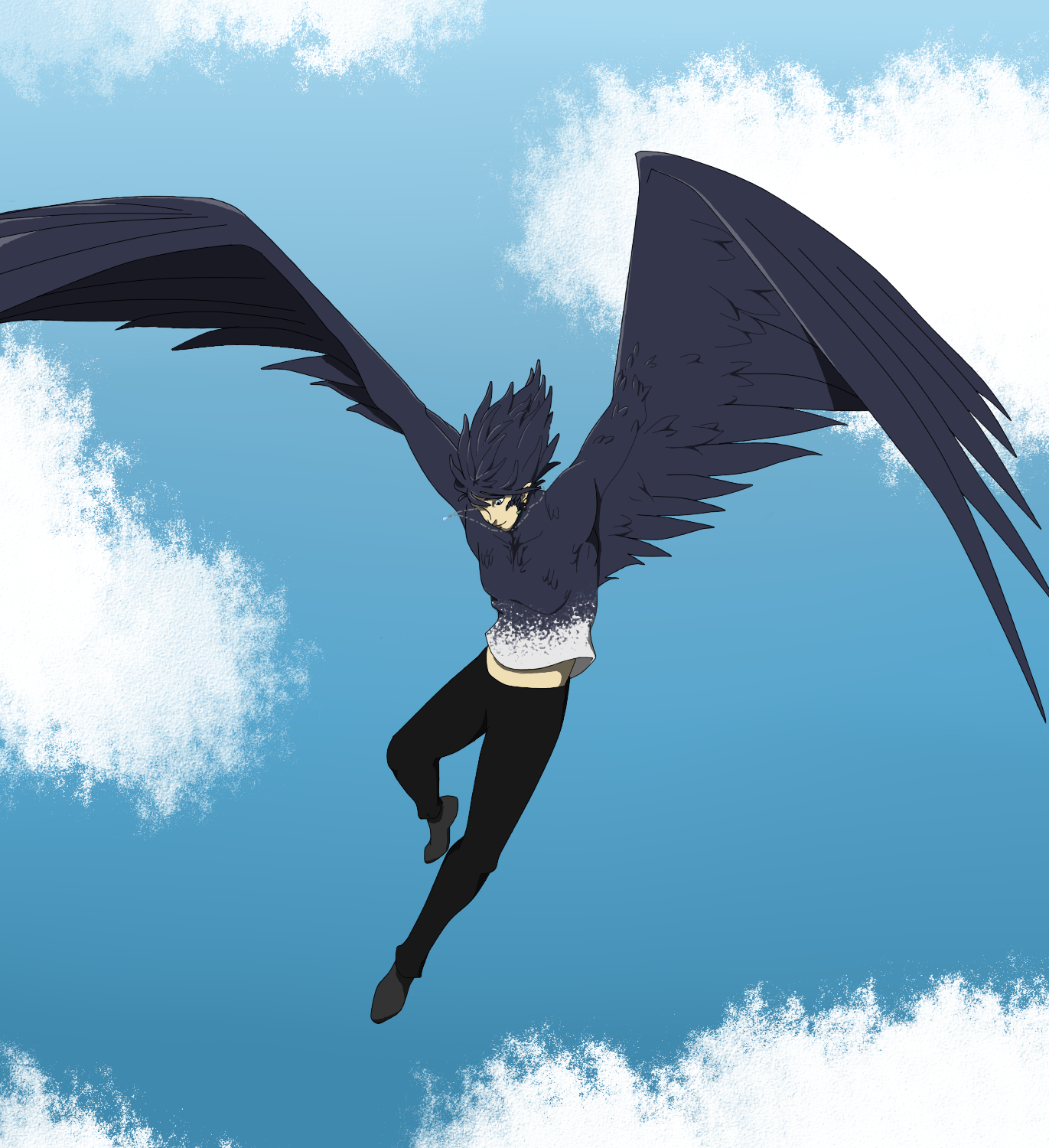 Howl Flying By Wolfeneclipse On Deviantart Ghibli Artwork Studio Ghibli Art Ghibli Art