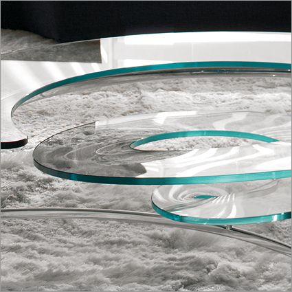Cattelan Italia Spiral Glass Coffee Table By Ca Nova Design Little - The-cattelan-italias-spiral-was-designed-by-ca-nova-design