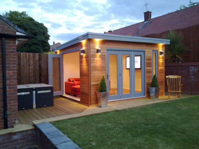 Garden Sheds You Can Live In am very much liking this posh shed would love this as new
