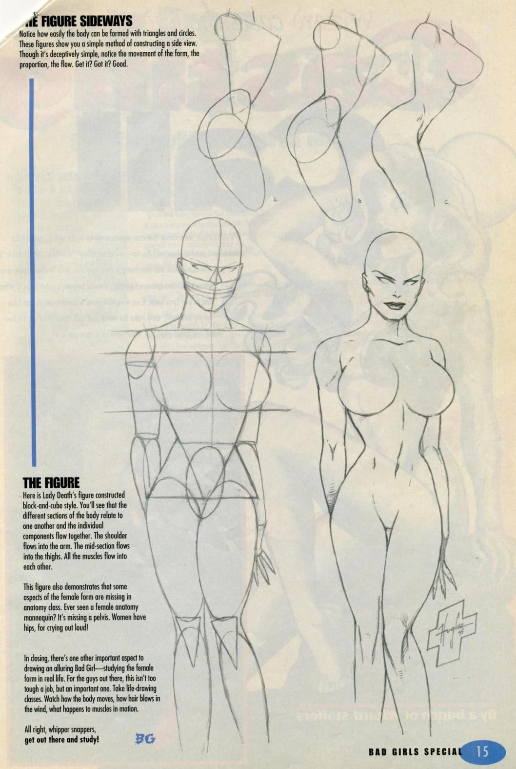 Anatomy Of A Comic Book Bad Girl Face Drawings Anatomy And Comic