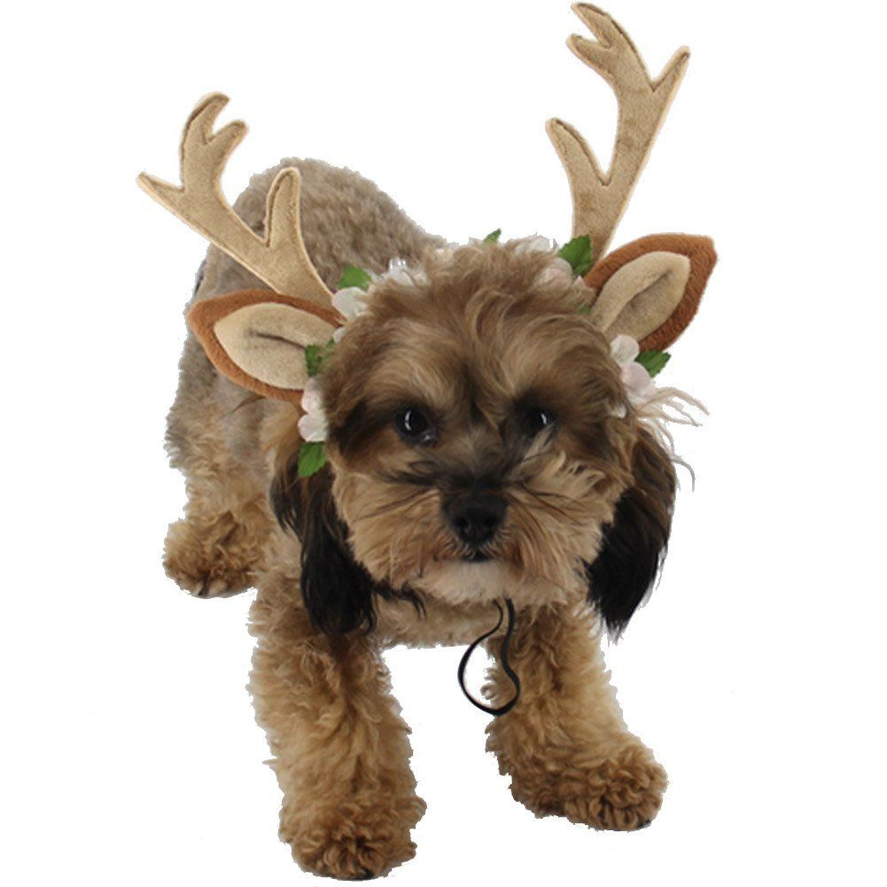 Ztl Pet Antlers Headband With Ears Dog Cat Hair Band Headwear