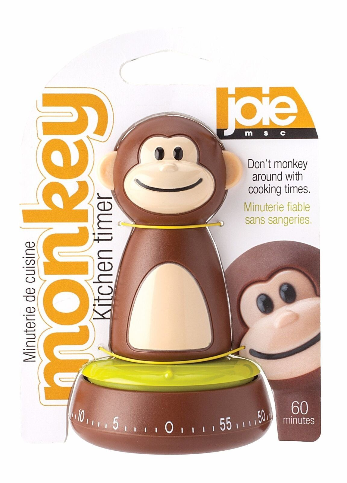 Joie Monkey Theme 60 Minute Cook Time Mechanical Kitchen / Egg Cooking Timer