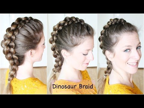 Admirable How To Dinosaur Braid Hair Tutorial Mohawk Braid Youtube Short Hairstyles Gunalazisus