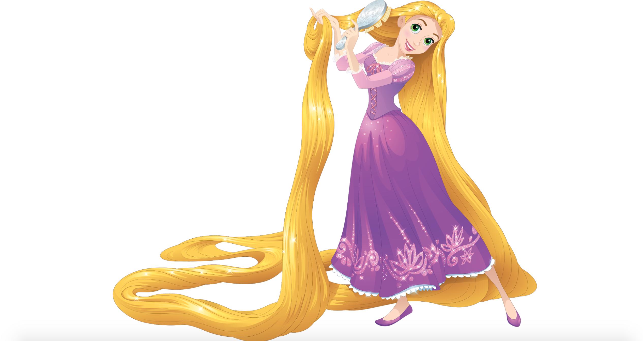 Rapunzel Brushing Her Long Golden Hair Disney Princess Rapunzel Disney Princess Pictures Rapunzel