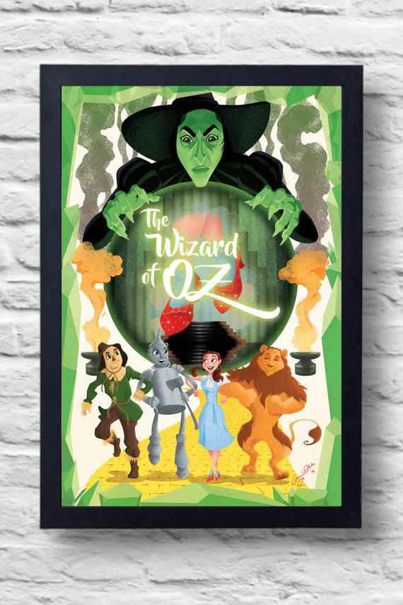 The Wizard of Oz Movie Poster Print film by TightywhiteArt on Etsy