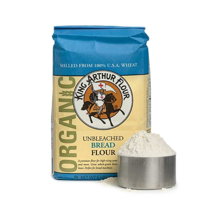 King Arthur Unbleached Flour Milled From Organically Grown