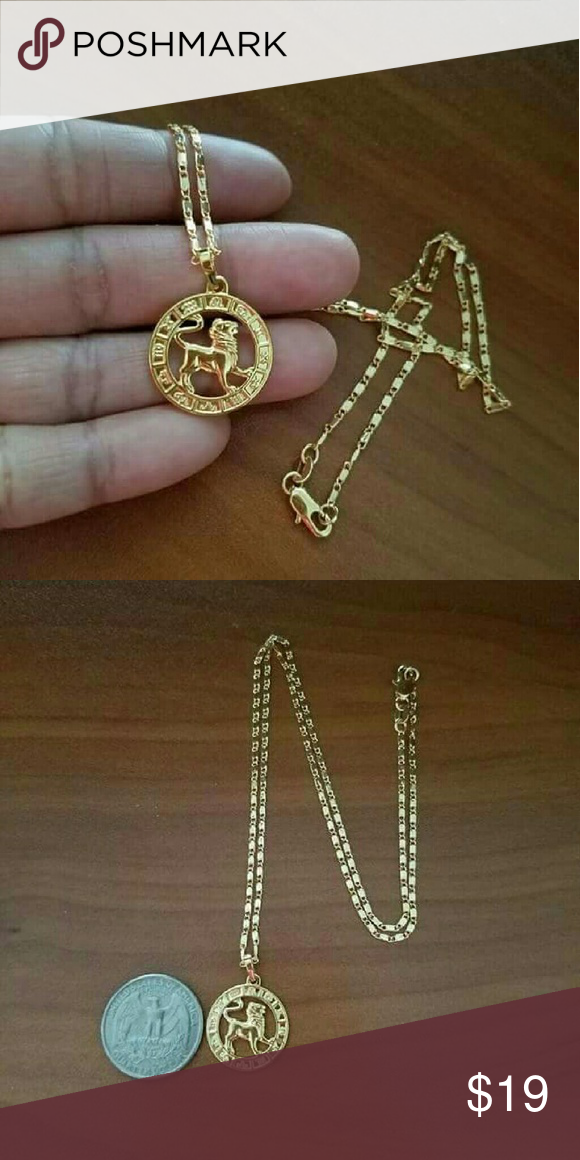 """18K Gold Filled Leo Necklace It's a new without tag 18k gold filled Leo zodiac horoscope necklace Size: 20""""long Stamped 18K GF Hypoallergenic, Nickel-Free Jewelry Necklaces"""