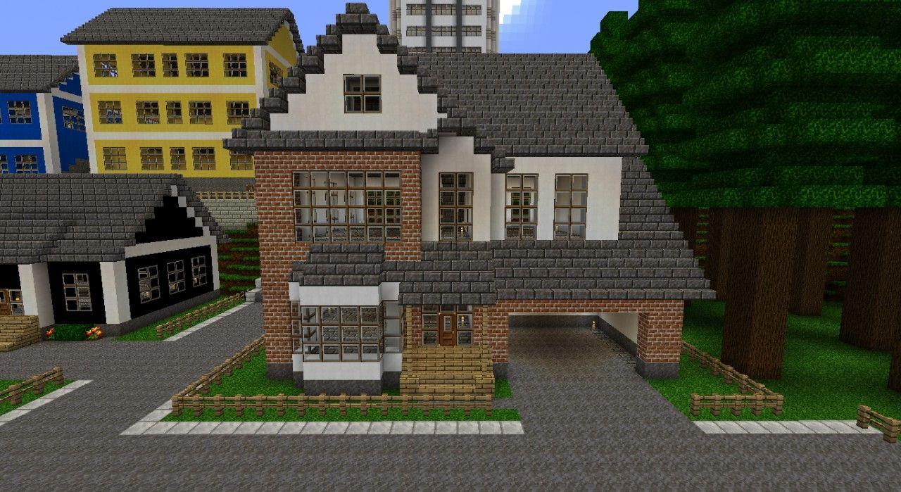 White/Brick house Minecraft Project  White brick houses