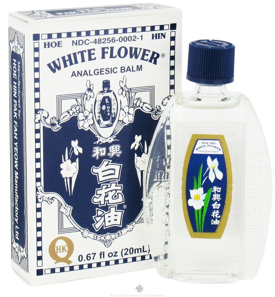 White Flower Analgesic Balm Oil 067 Fl Oz Oil Wellness