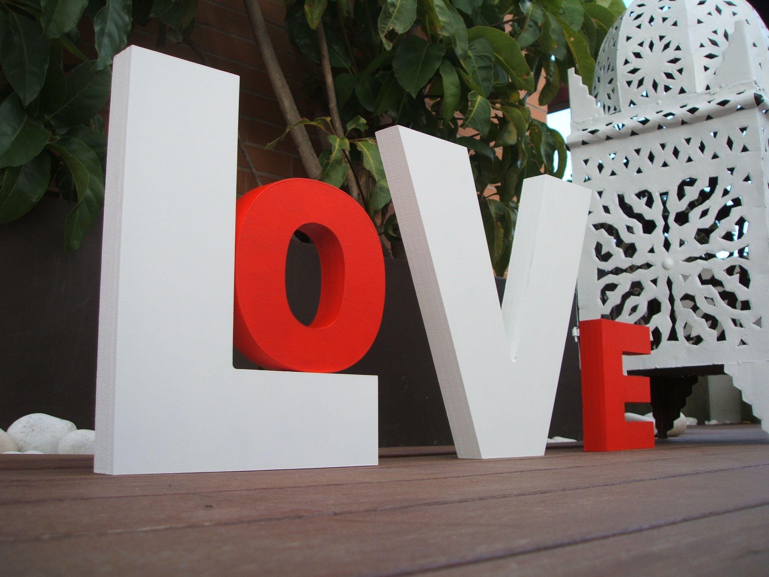 Letras de madera love para bodas pinterest ideas para - Letras de madera ...