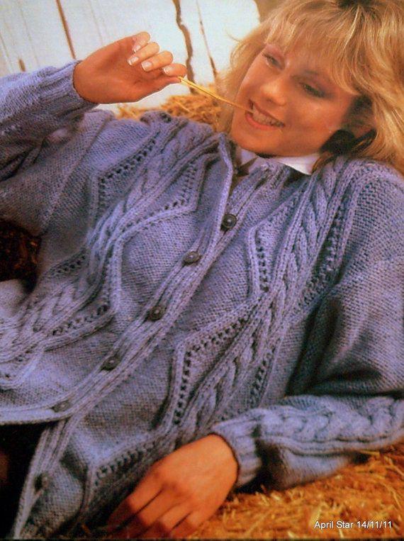 MADE TO ORDER hand knit ladies modern design Aran cardigan ...