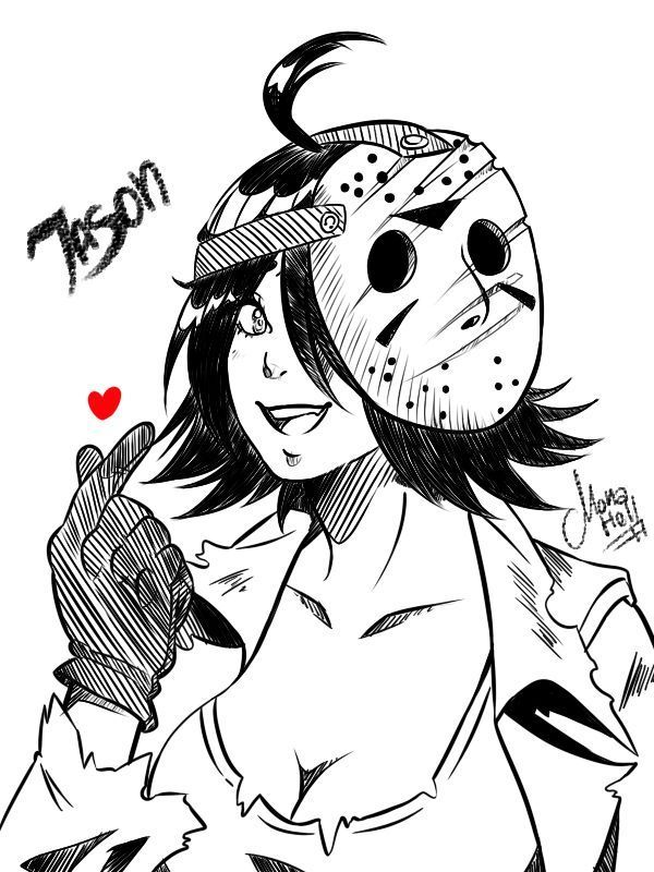 Blind Male Reader X Fem Jason Voorhees Reunion Jason Voorhees Drawing Fan Art Jason Voorhees