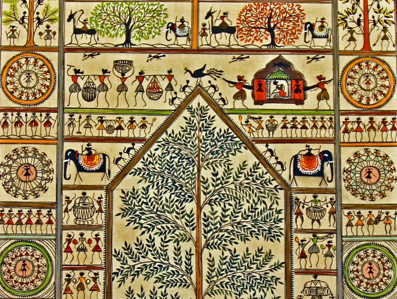 Saura painting --- A tribal art by the saura tribes of Orissa, India.