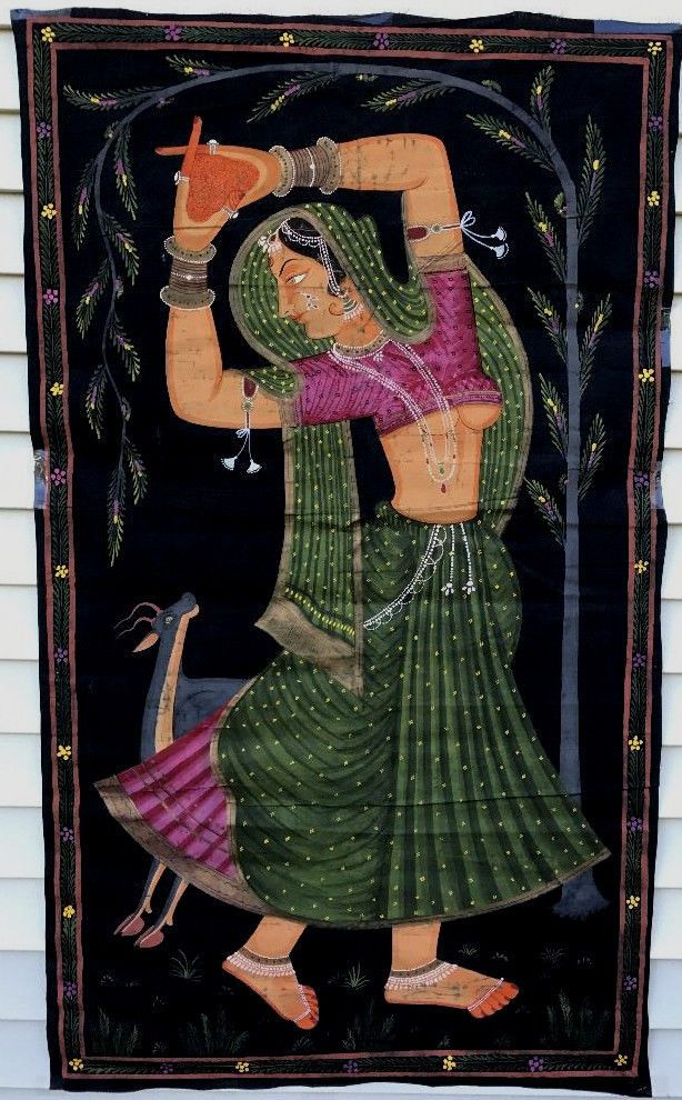 Female Classical Dancer Painting India Art Lifesize Antique
