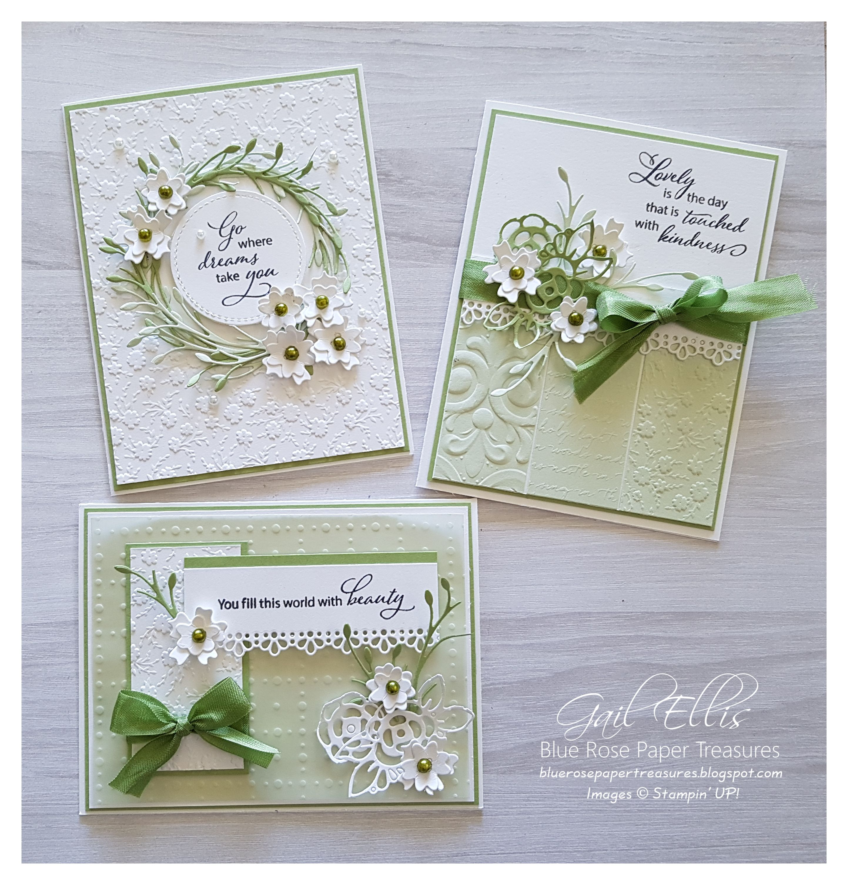 Photo of Stampin 'Up! Soft Sea Foam Ornate Embossed Cards