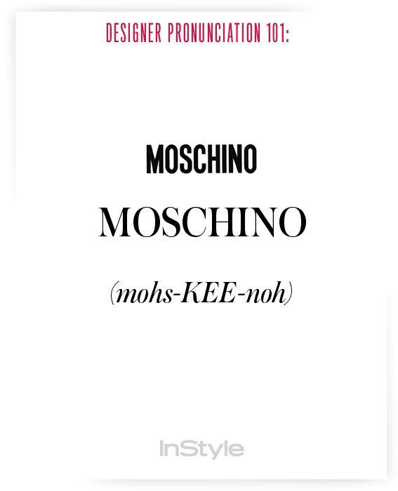 How To Pronounce Fashion Designer Names Pronunciation Pronunciation Guide Fashion Designers Names