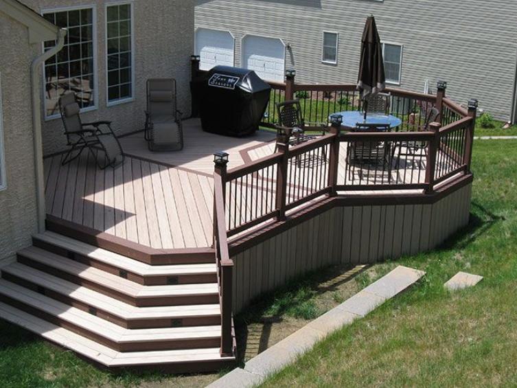 Small Composite Deck Ideas Decks Backyard Deck Design Building A Deck