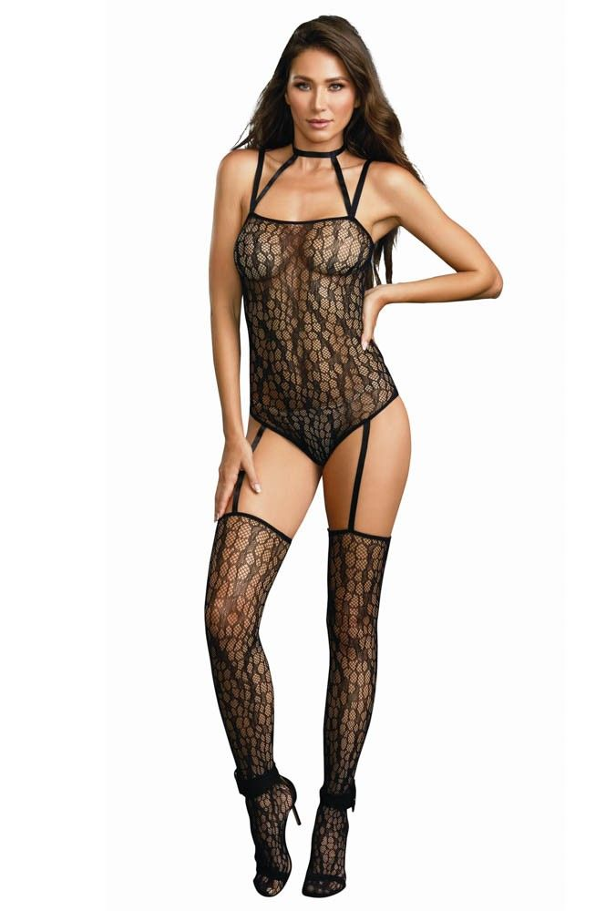 Sexy men mesh leggings tight thigh high fishnet gay long johns stretch underwear