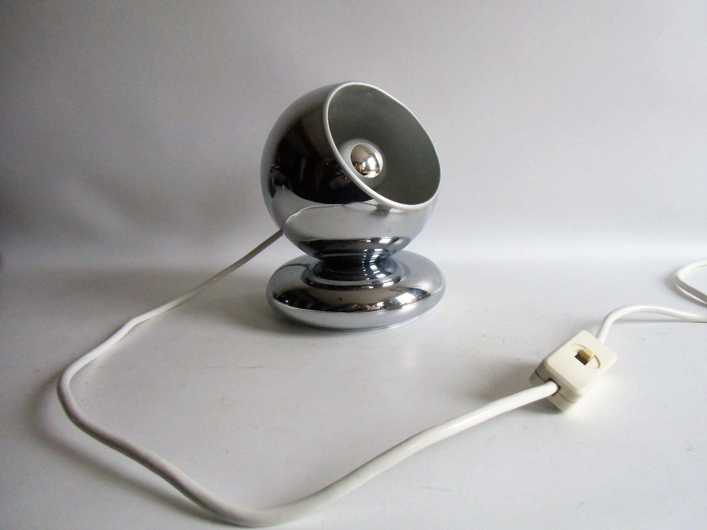 Vintage Magnet Leuchte Space Age Goffredo Reggiani Lampadari 60er Jahren Chrome Lampe Kugellampe Lamp Desk Lamp Table Lamp