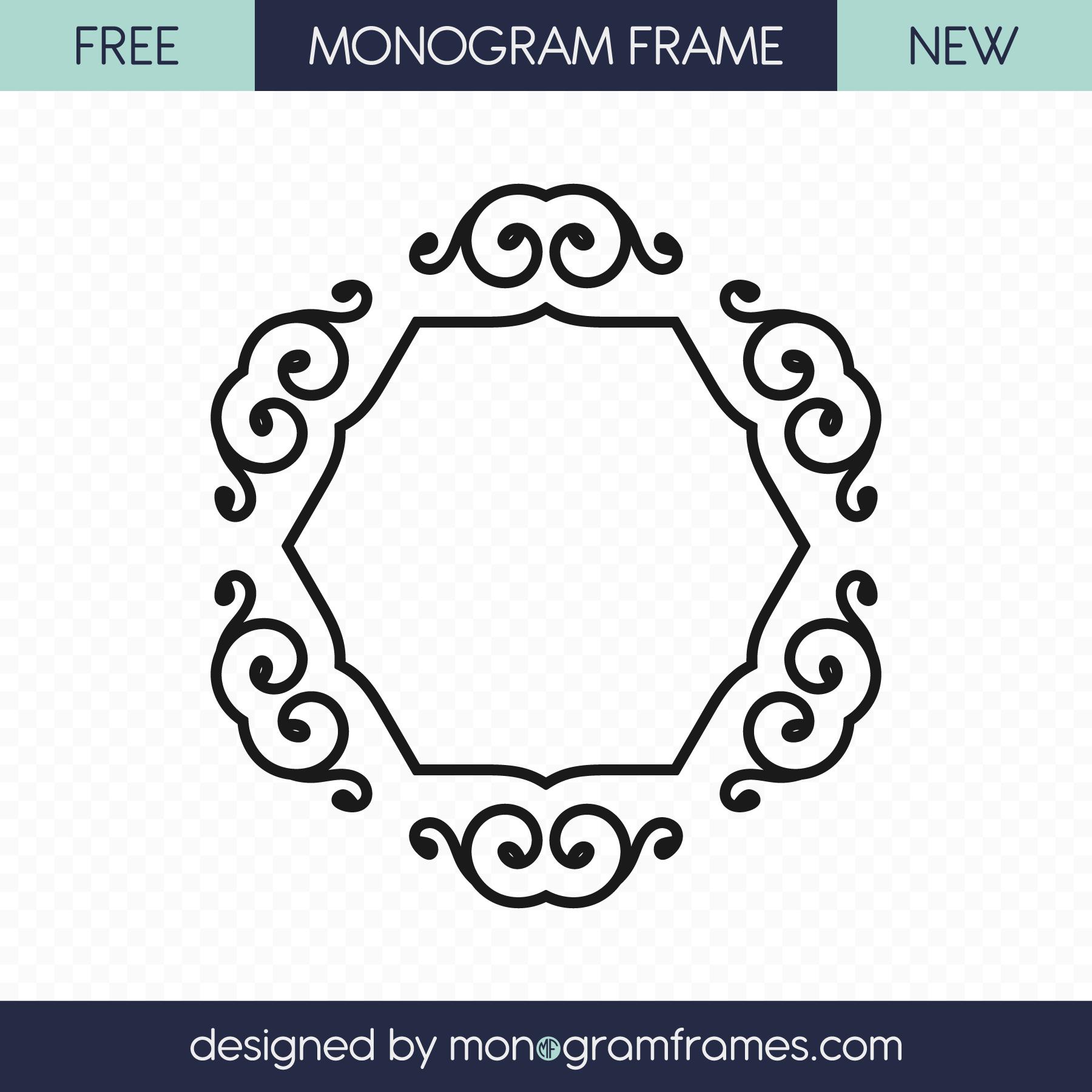 Free ornament SVG Free monogram, Monogram frame