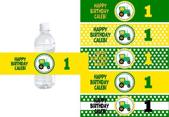 Tractor time birthday buy 2 get 1 free john deere for Buy water bottle labels