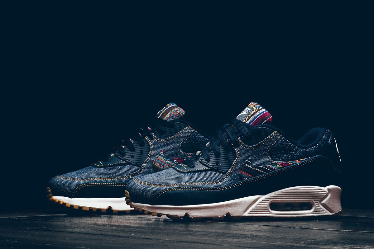 Nike Dresses the Air Max 90 Premium in Denim Colorful Patterns