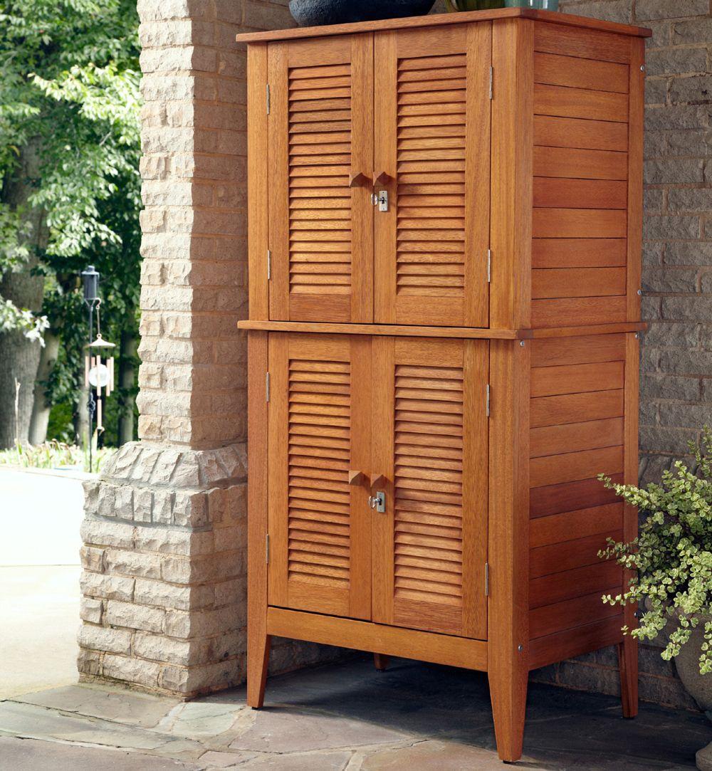 Outdoor Wood Storage Cabinet Patio Storage Outdoor Storage Cabinet Outdoor Cabinet