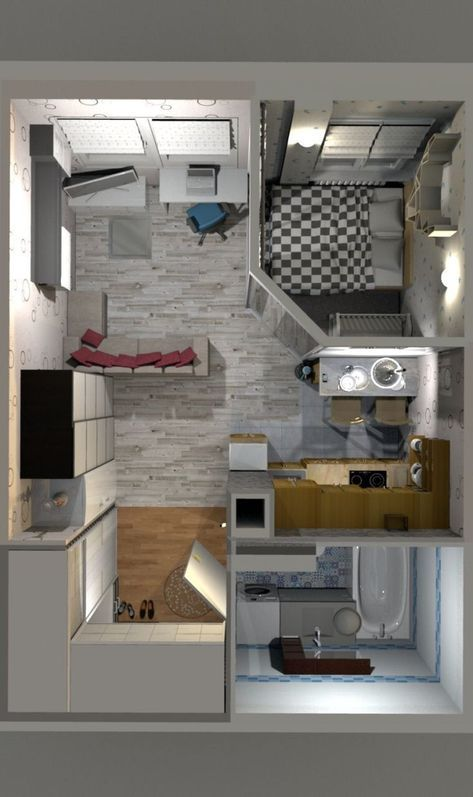 31 Super Ideas Apartment Studio Layout Decor Floor Plans 2020 Plan Malenkogo Doma Proektirovanie Doma Chertezhi Doma