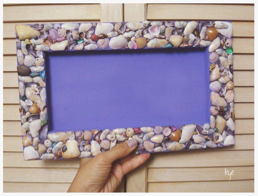 Marco para foto con conchitas de mar Manualidades | decoracion ...