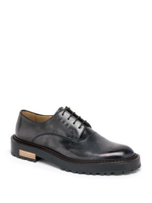 Fendi Seleria Leather Derby Shoes Black : Buy replica watches, designer  replica handbags, cheap wallets, shoes for sale