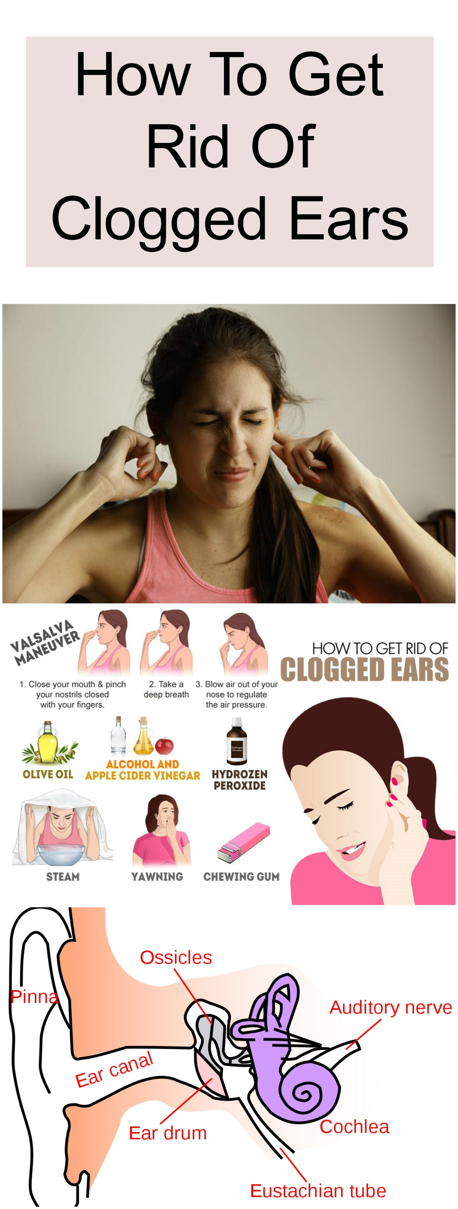 clogged ears get rid healthy tips Clogged ears