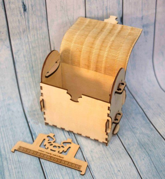 Laser cut vector model  wooden backpack DXF bag dispenser