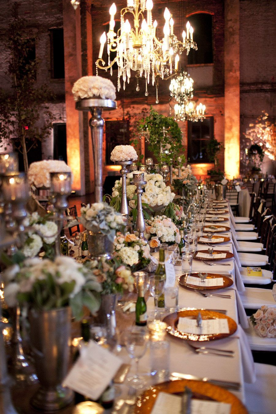 Wedding dinner decoration ideas  Minneapolis Wedding from Brandon Werth Photography  Weddings