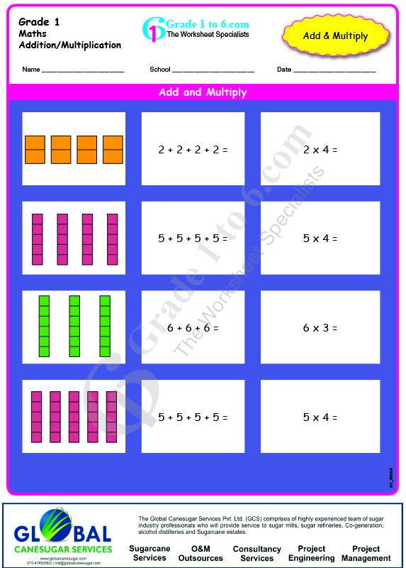 Multiplication By Grouping Worksheets Maths Worksheet Pinterest