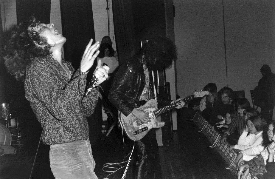 Led Zeppelin at Gladsaxe Teen Club, Denmark. March 15, 1969
