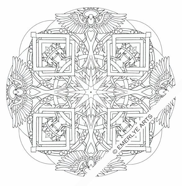 Holy Spirit Mandala part of a Christian collection of