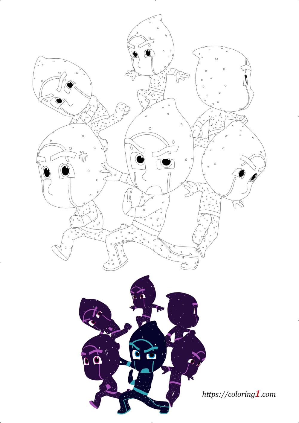 20+ Pj masks night ninja coloring page free download