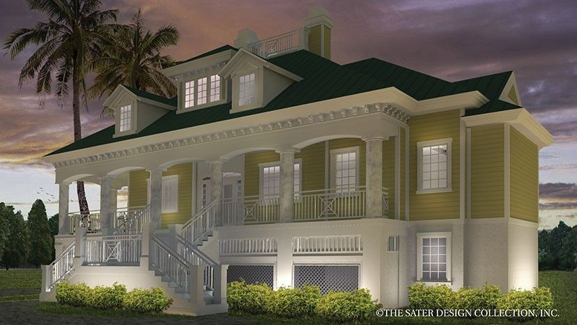 Floor Plan AFLFPW06151 Is A Beautiful 2756 Square Foot + Low Country Home  Design With 2