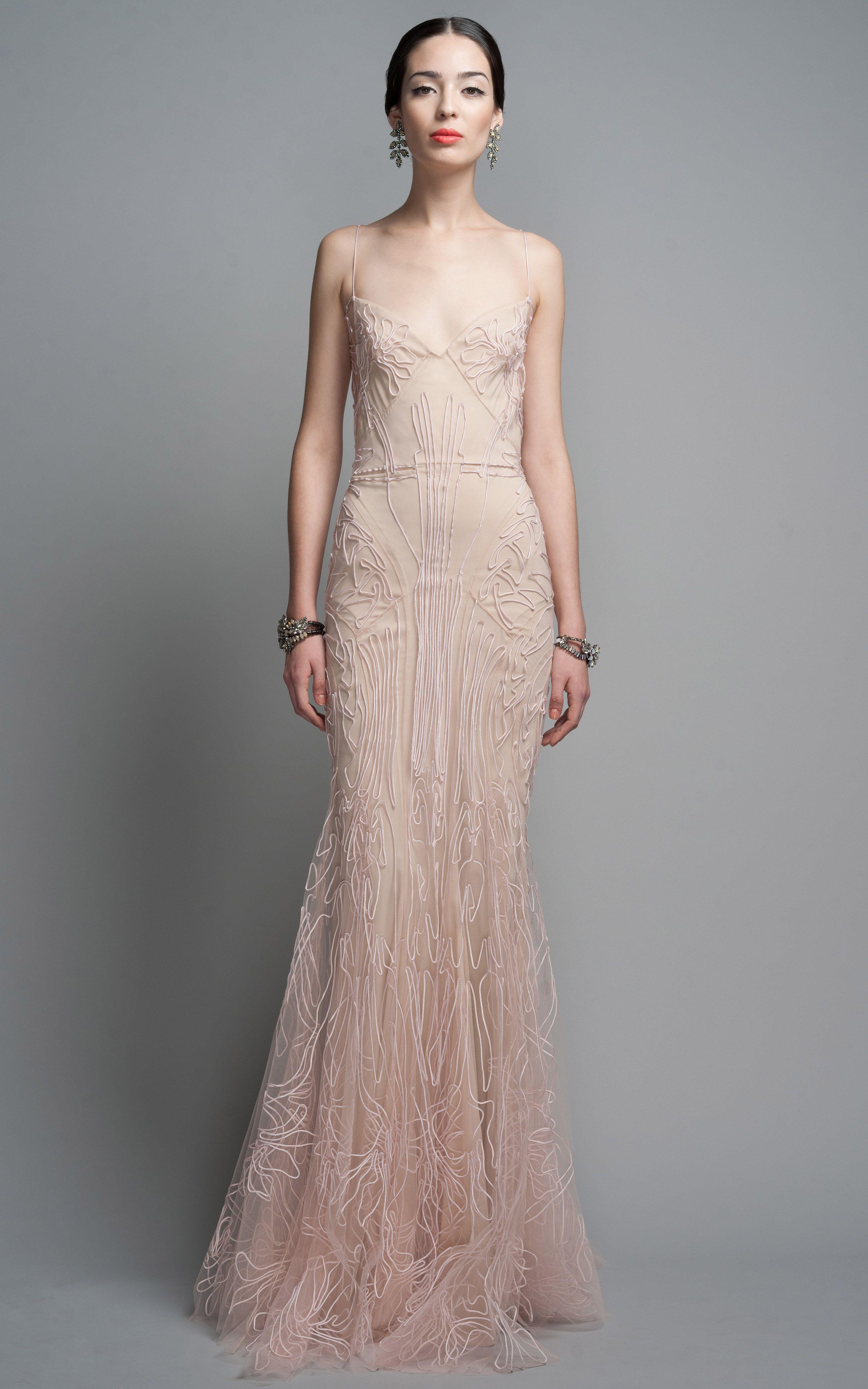 Rh dress by peter pilotto moda operandi zac posen for Blush wedding dress for sale