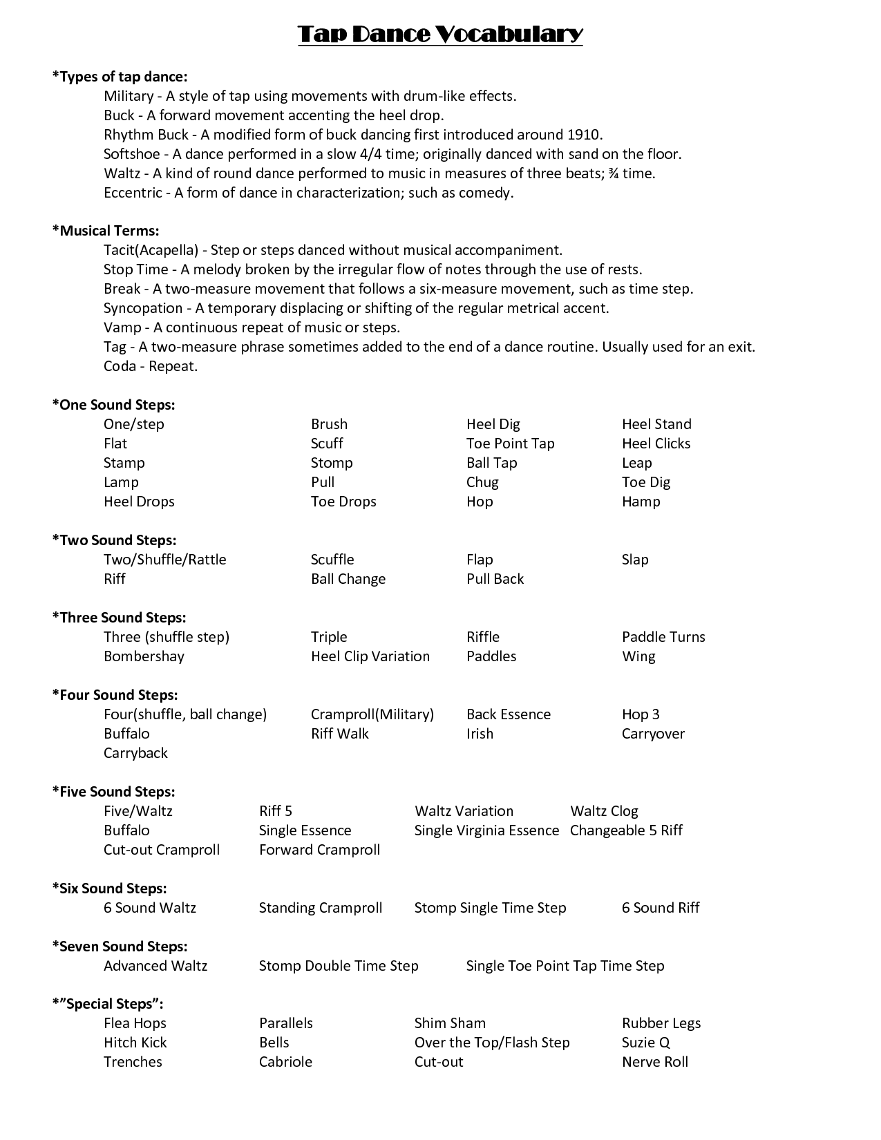 Freestyle - training elements of the Top and Waltz